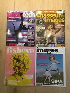 Lot de 4 magazines photo (Fisheye, Images…) - Très bon état
