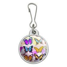 Colorful Butterflies Butterfly Design Jacket Handbag Purse Zipper Pull Charm