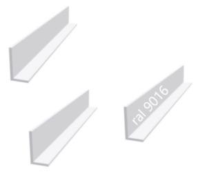 Aluminium Winkel Aluwinkel Alu Winkelprofil Weiss Pulverbeschichtet RAL 9016