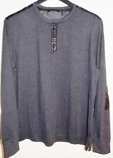 Sean John Men's Long Sleeve Shirt Cotton Black NWT Size L