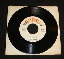 DAVID FRIZZELL 45 - COUNTRY PRIDE / KICKING SAND ON CARTWHEEL 1971 COUNTRY