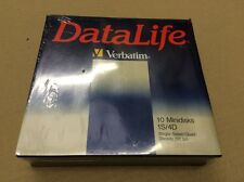 "VERBATIM MD 577-01 5.25"" 5 1/4 DISCHI FLOPPY DISC 10 minidisks Pack-Old Style"