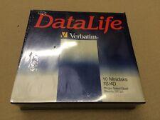 "VERBATIM MD 577-01 5.25"" 5 1/4 DISCHI FLOPPY DISC 10 minidisks Pack-Old Style"