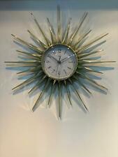London Clock Company Starburst Gold Clock 22306