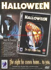 "Halloween ""The Night He Comes Home To You"" 2002 Magazine Advert #7049"