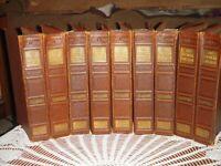 The Popular Educator Tooled Leather Hardback 9 Volumes 54 Issues 1938-1939