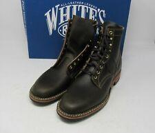"""Whites Boots. MP365D, Olive wax,Kaki Stitching, 10 D, 6"""", Dainite sole."""