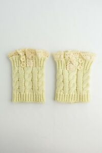 Leto KNIT LACE BOOT CUFFS Toppers Leg Warmers Socks Asst Colors Reg $15.95