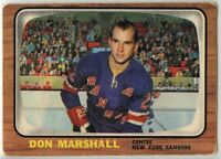 1966-67 Topps Hockey #24 Don Marshall Good Condition (2020-03)