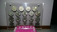 1967-1985 SINGAPORE $1 lion coin with acrylic holder completed sets