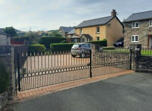 Wrought Iron Driveway Gates and Railings Ornate Steel Fabrication Garden Estate