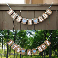 It's a Boy Blue Hearts Bunting Banner Garland Baby Shower Party Decoration