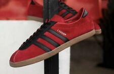 adidas london og.  red black gum  .. 7.5 uk bnibwt .. unworn