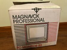 Vintage MAGNAVOX PROFESSIONAL PC Monitor 80 Monochrome Display Monitor 7BM623