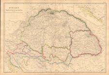 1860  ANTIQUE MAP - HUNGARY, TRANSYLVANIA, DALMATIA AND MILITARY FRONTIERS