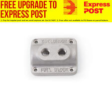 "Edelbrock Fuel Distribution Block Dual Outlet Fuel Block, 3/8"" inlet, 1/4"" outle"