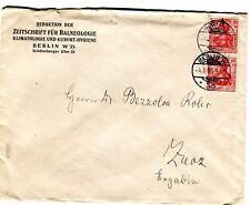 1909 Corner Card Envelope Berlin Germany Spa Magazine to Zuoz Switzerland