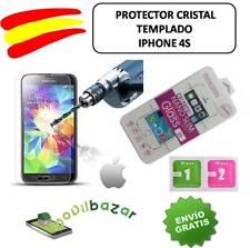 PROTECTOR PANTALLA IPHONE 4S CRISTAL TEMPLADO 9H 2.5D TOALLITA FUNDA