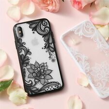 Cell Phone Case Floral Pattern Cover Mobile Transparent Lace Luxury Accessories