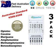 3X URINE DRUG TESTING KITS, DRUG TESTS, DRUG SCREEN, HOME TEST, DETECTS 6 DRUGS