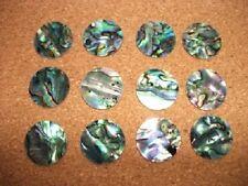 4 - Paua Shell Laser Cut Circle s  / Disc 20mm Diam