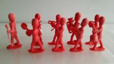 9  Plastic 1960s Charbens Grenadier Bandsmen.