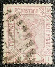 Duzik: Gb Qv Sg141, 2 1/2d. mauve M-I Pl.14 used stamp (No.2193) *