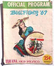 Vintage 1967 Official Program (Matador) Tijuana Old Mexico Bullfighting Magazine
