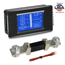 LCD Display Battery Monitor Meter Voltage Resistance Test Tool For Car RV Solar