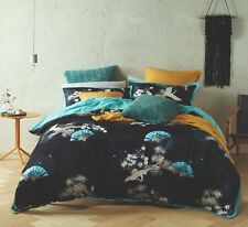 Bianca Soraya Black Super King Size Duvet Doona Quilt Cover Set Rrp249.95