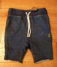 NEXT Kids Cotton Casual Jogger Style Shorts 3 Years BNWT RRP £13.99 Denim Blue