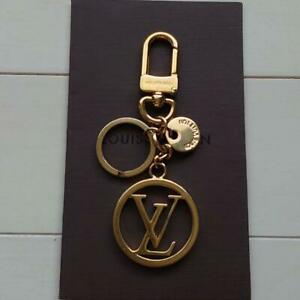 Auth Louis Vuitton LV Circle Bag Charm Keyring M68000 Gold Used from Japan F/S