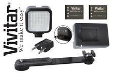 LED Light Kit With Power Kit/Charger For Panasonic Lumix DMC-LX100 DMC-GF7