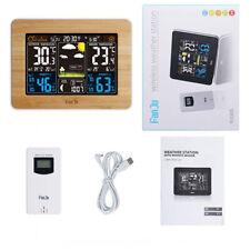 Digital Wireless Weather Station Temperature Indoor Outdoor Color Forecast Alarm