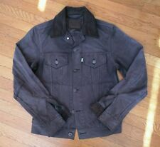 LEVI x FILSON OIL FINISH TIN CLOTH WAXED COTTON TRUCKER JACKET Size S/XS