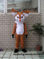 Christmas Reindeer Mascot Costume Suits Adults Size Advertising Party Game Dress