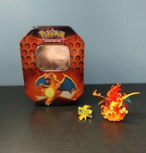 Charizard Pokemon Mini Figurine 2016 Flames Collector Tin Tapu Koko Pin Rare