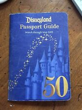 Disneyland Annual Passholder 50th Anniversary Passport Guide 2005