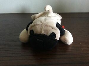 The Beanie Babies Collection. Pugsly The Dog ty retired