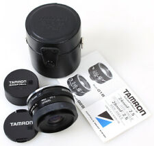 Tamron Adaptall-2 28mm f/2.5 Wide Angle Lens w/Case   Caps for Nikon FE / FM