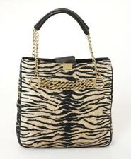 Escada Animal Print Embellished  Bag with gold chain leather  new