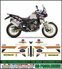 kit adesivi stickers compatibili africa twin crf 1000 L rothmans