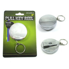 "Heavy Duty Retractable 2"" Pull Reel Key Chain Retractable Chain Belt Clip ID New"