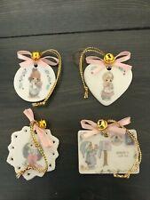 Precious Moments Mini Small Ornaments 4pc. Set #254401