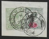 DARVEL(Ayrshire)-1/2d.SG217 & 2d.SG227 Used On Piece With Darvel CDS's. Ref.0848