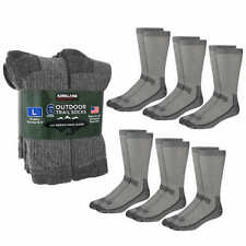 [FREE SHIPPING] Kirkland Signature Merino Wool Men's Outdoor Hiking Trail Socks
