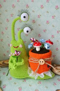 Crochet snail Stuffed animal Knitted toy Amigurumi baby children