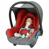 Replacement Seat Cover fits Maxi Cosi CabrioFix 0+ FULL SET modern-red/charc