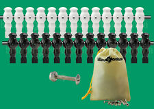 """13 Black/13 White Robotic Style Foosball Men for a 5/8"""" Rod + 26 Screws/Nuts"""