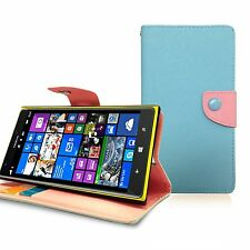 for Nokia Lumia 1520, Faux Leather Wallet Case Cover Business Credit Card Holder